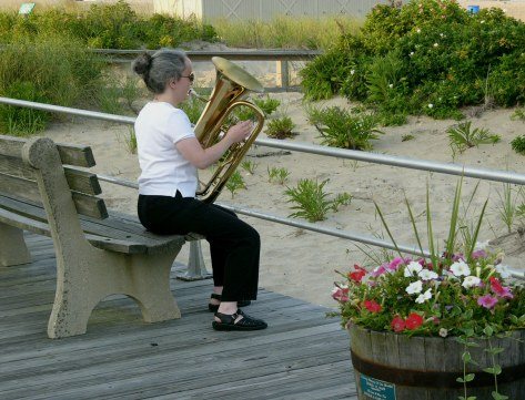 Ocean Grove summer band member.  ©