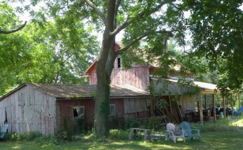 19th century barn at the Arrow Acres Farm in Wall Twp.  Photograph by Paul Goldfinger ©  July, 2014.