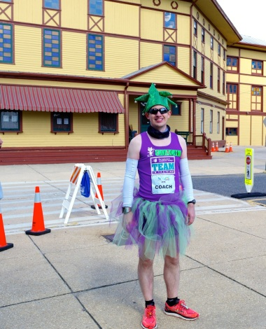 A visitor from Mars at the NJ Marathon as it passes through OG   April, 2014Paul Goldfinger photograph.  ©