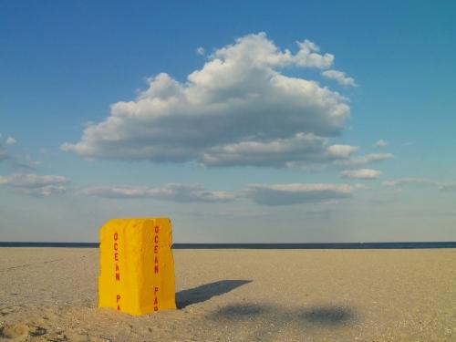 Bradley Beach marker. By Hoola Frank of Ocean Grove.