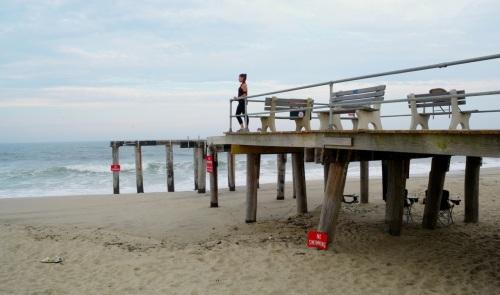 OG pier far end.  By Paul Goldfinger. © July 9, 2014