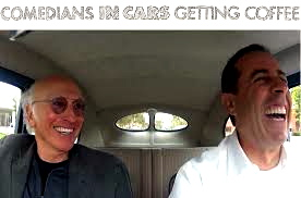 Jerry Seinfeld and Larry David. comediansincarsgettingcofee.com
