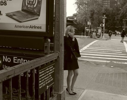 "From the New York City Street Series by Paul Goldfinger © ""He Neve Did THAT Before!"""