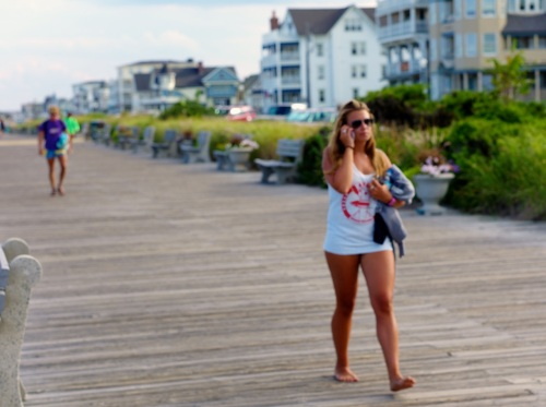 Look Ma---no pants.  Ocean Grove boards.   July, 2014.  Blogfinger photo