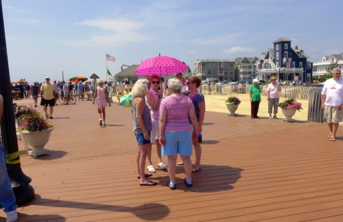 Steppin' out on the new Ocean Grove boardwalk.  Photos by Paul Goldfinger @Blogfinger.  Click on images to enlarge.