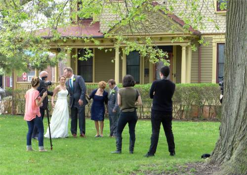 Photo shoot in the Grove.  Looking for peace and quiet in our bucolic town.  Blogfinger file photo ©