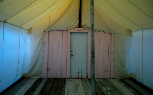 Ocean Grove tent awaits final dismantling. September, 2014. Paul Goldfinger photo ©