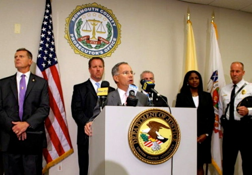 US Attorney for New Jersey Paul Fishman speaking at the press conference Oct.  16, 2014.   N.J.com photo