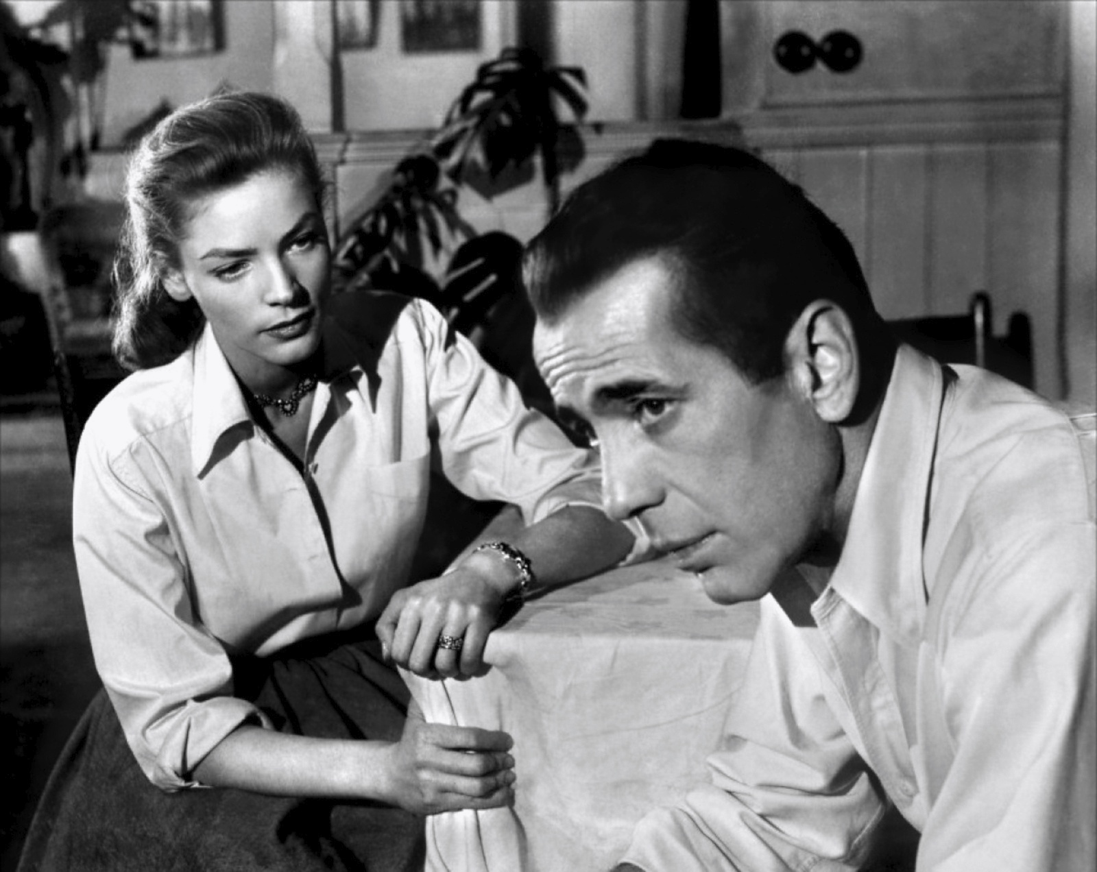 Bacall moving in Bogies direction without any cold weather to propel her.