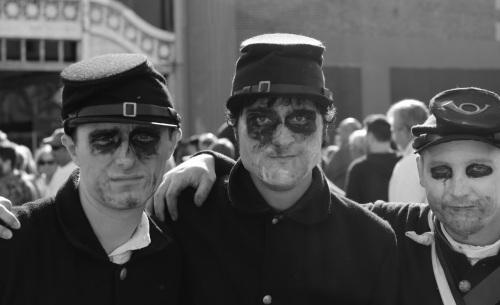 Zombie Walk #5  Asbury Park. October 4,  2014.  Paul Goldfinger photo ©