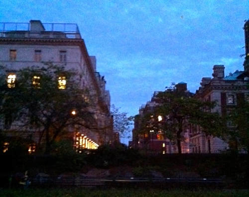 East 90's near Central Park.Early evening.  By Stephen Goldfinger, our New York correspondent.