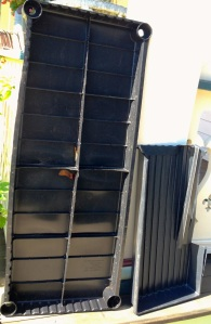 Two plastic trays rejected by the recycling pickup on Wed. Oct. 8  Blogfinger photo
