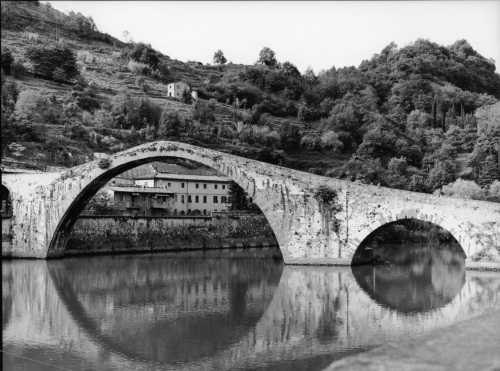 Ponte della Maddalena. Serchio River. Italy. By Paul Goldfinger. © This image appeared in exhibit at the Salisbury State University Art Gallery