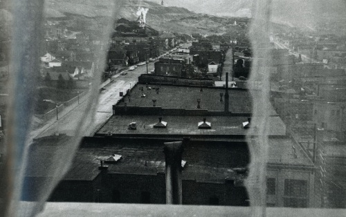 Butte, Montana, an old mining town. Frank shot this out his hotel window.