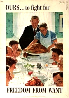 Norman Rockwell Painting used for poster to support the war effort. Internet collection