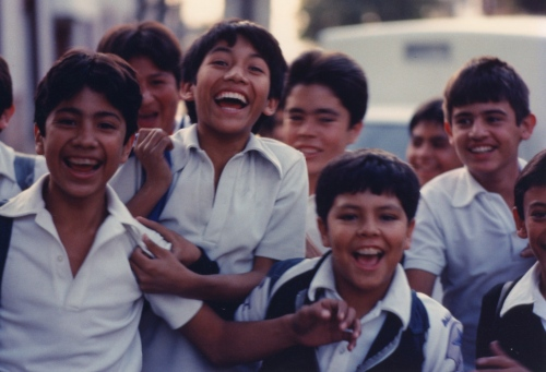 Mexican schoolboys. By Paul Goldfinger ©