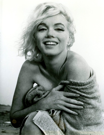 Marilyn Monroe, no longer in the dark.