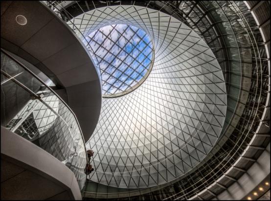 New transportation center near One World Trade Center.  By Bob Bowné. ©   Dec. 23, 2014.