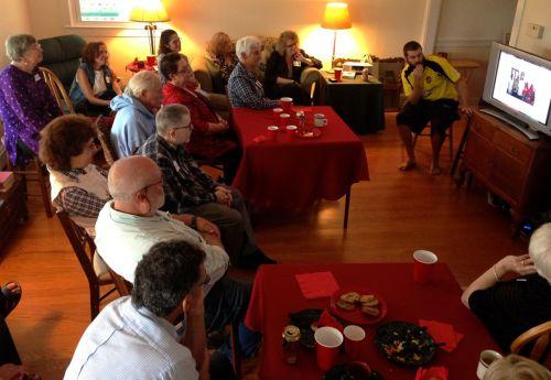 Chavurah (Jewish fellowship) meeting today in Ocean Grove,  NJ.  10/6/13 Blogfinger photo