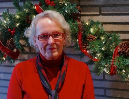 Gayle Annensen, author.  Photo by Paul Goldfinger © Ocean Grove, December, 2014.