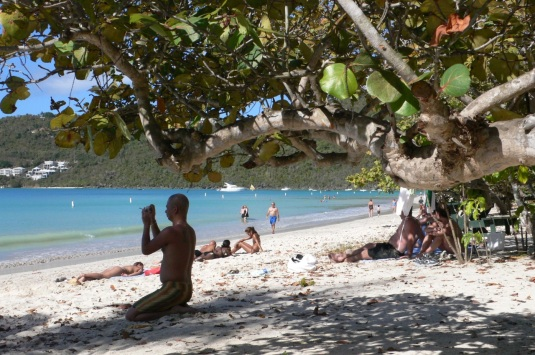 Meghan's Bay Beach. St. Thomas, USVI. She must have been very special. Paul Goldfinger photo in February. ©