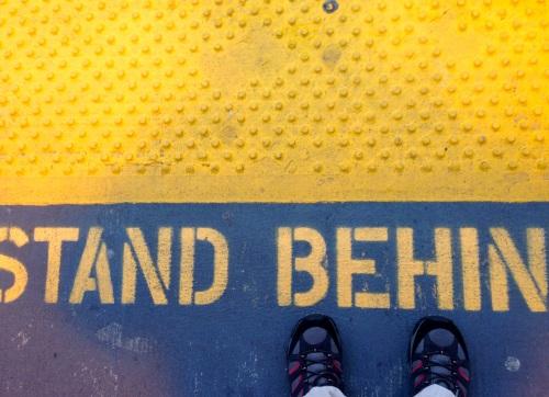 Self portrait. Long Branch train station. By Paul Goldfinger @Blogfinger. ©