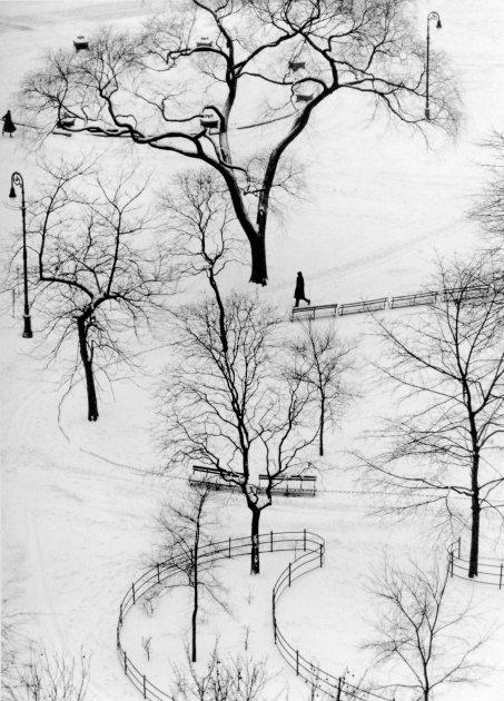 André Kertész, NYC, 1954.  Washington Square Park.©