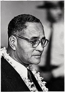 Ralph Bunche in 1963 at the Civil Rights March on Washington. Internet photo.