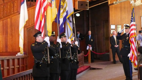 Color Guard at the NJ Police Memorial service in the GA. 2013. Paul Goldfinger photo ©
