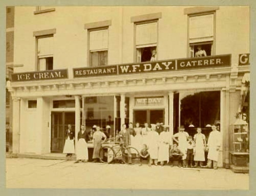 Morristown store c.1889. All old photos courtesy of Virginia Tiger (Day family)