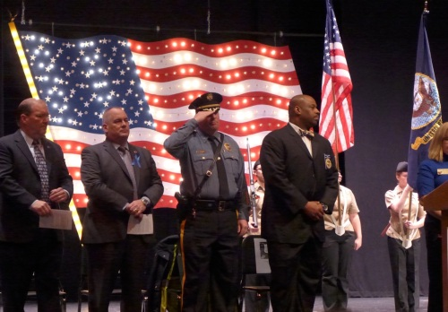 On stage at the LEAD Rally at Neptune High School.  Paul Goldfinger photos ©
