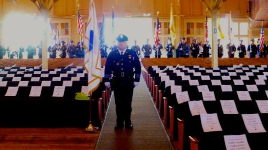 2013 police memorial service at the Great Auditorium In Ocean Grove. 2013. Paul Goldfinger photo ©