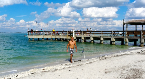 This is a fishing pier first and foremost at the Sanibel Island Lighthouse Park (Fla).