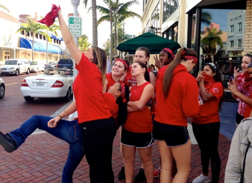 Downtown Fort Myers. Basketball team on the town. Paul Goldfinger photo ©