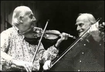 Grappelli (left) and Menuhin.