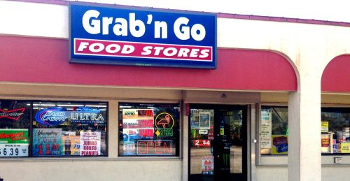 Go ahead, make my day.   Bodega owned by Smith and Wesson.  Cape Coral, Fla. Blogfinger photo