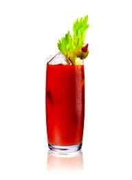 Healthy vegetarian drink made with tomatoes.