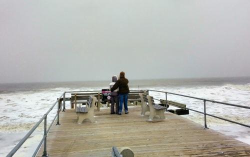 Ocean Grove non-fishing pier. February, 2015.  Jean Bredin photo