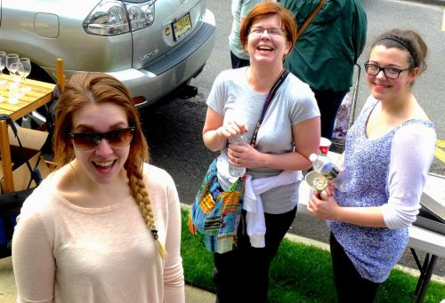 Having fun at the Blogfinger 2014 Town Wide Yard Sale. Blogfinger photo