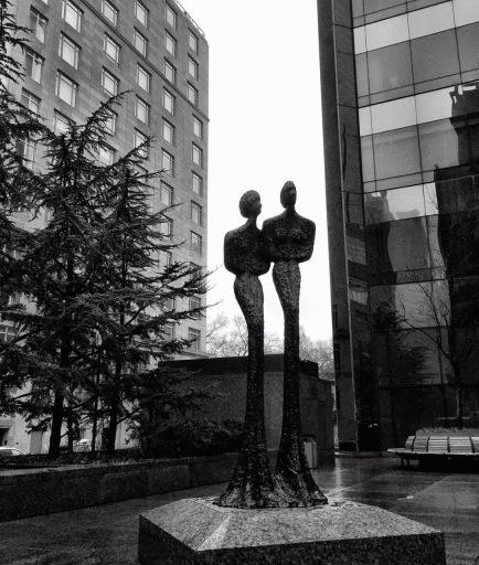 """""""The Duo by David Hosteler, 1997.""""  Photograph by Lee Morgan ©.  March 15, 2015."""