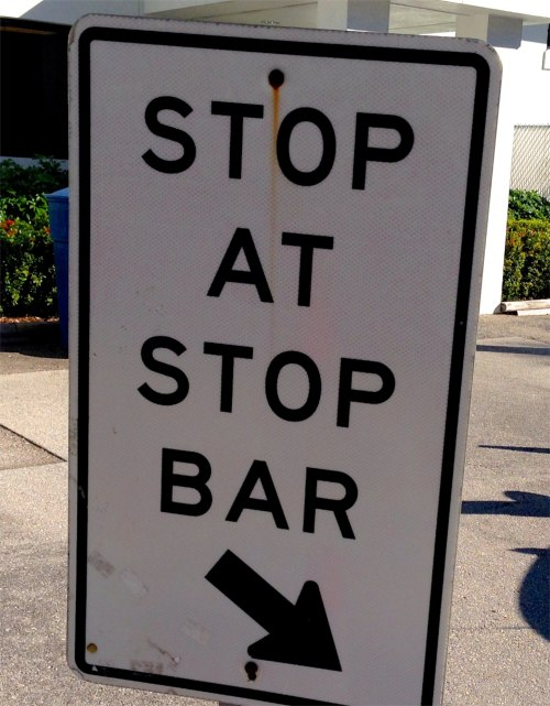 But Officer Krupke, I did stop at the stop bar before I went at the stop bar.  Blogfinger photo