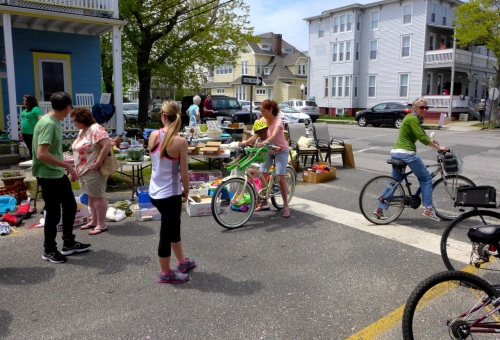3rd Annual Town-Wide Yard Sale in Ocean Grove. May 10, 2014. Paul Goldfinger photo ©