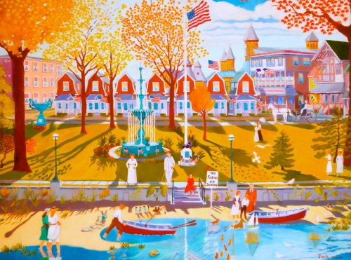 Founders' Park by Jack Bredin. Oil on canvas. 30x40. Painted in 2014.