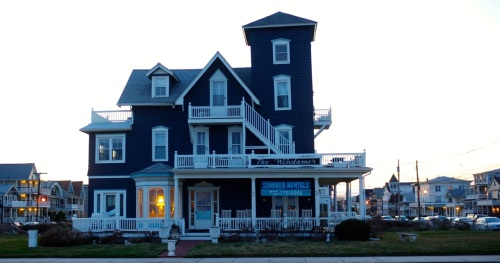 Summer Rentals.  Ocean Avenue, Ocean Grove. April 5, 2015. Paul Goldfinger photo ©