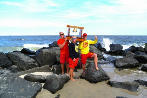 Award winning Ocean Grove lifeguard team.  August 2014   ©  Paul Goldfinger photo