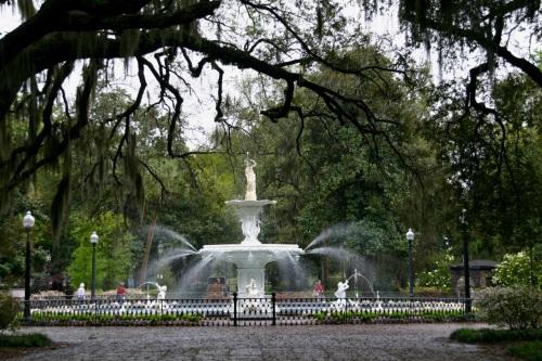 Forsyth Park, Savannah. Paul Goldfinger photograph. ©