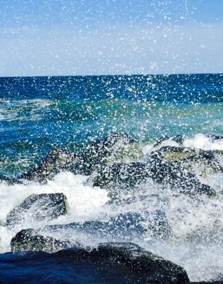 Ocean Grove surf.  April 11, 2015.   Photo by Grover Nadine De Sousa  (FOB--Friend of Blogfinger) ©