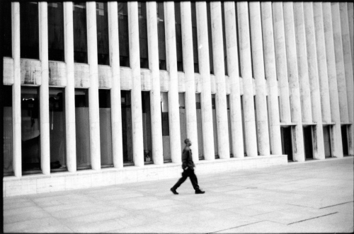 Lincoln Center. Undated. Silver gelatin print. By Paul Goldfinger ©