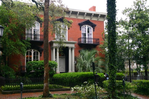 Johnny Mercer's house across from Forsyth Park in Savannah. Eileen Goldfinger photo. ©