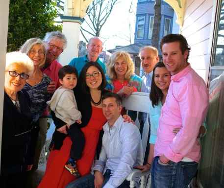 Part of the lost tribe that found its way to Ocean Grove for a seder at Eileen and Paul's. April 4, 2015. Ed Faust photographer.